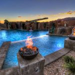 Gas Fire Bowl Pool Side