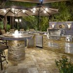 Natural Gas Outdoor Kitchen with Firepit