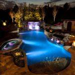 Gas heated island pool