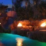 Natural Gas outdoor pool lighting