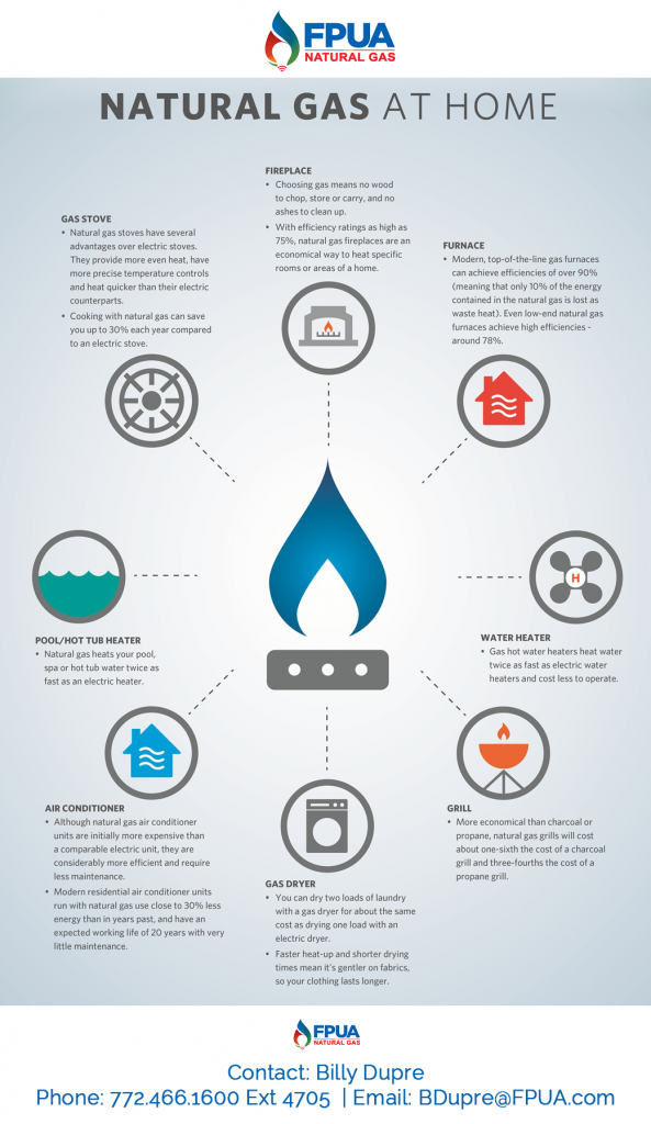 Natural Gas Uses In the Home Info Graphic